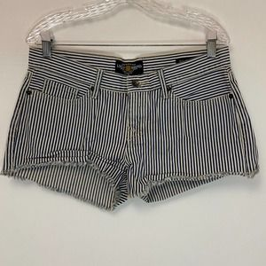 Lucky Brand Riley Shorts Blue & White Striped
